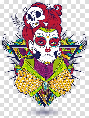 La Calavera Catrina Day of the Dead Graphic design, skull PNG