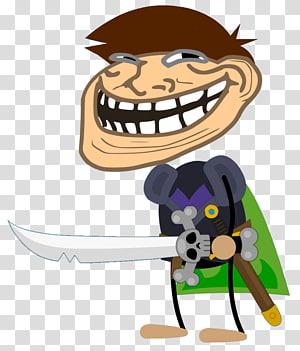 Internet meme Rage comic Trollface Internet troll Laughter, smile PNG clipart