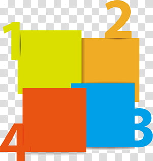 green, yellow, orange, and blue boxes illustration, Euclidean Chart , PPT element PNG clipart