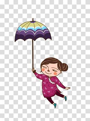 Cartoon Designer Illustration, Cartoon illustration rain PNG clipart