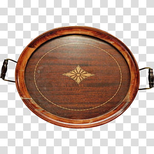 Wood Tray Platter Inlay Glass, wood PNG