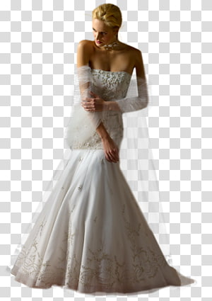 Wedding dress Bride Evening gown Woman, bride PNG
