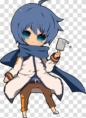 Chibi Kaito Vocaloid Kaitō Drawing, Chibi PNG clipart