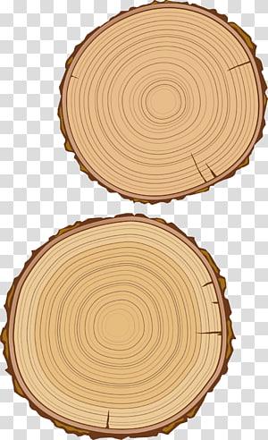 two brown wood slabs illustration, Wood grain Material, Woody wood PNG