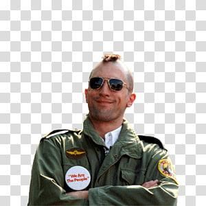 smiling man wearing green jacket, Robert De Niro Taxi Driver PNG