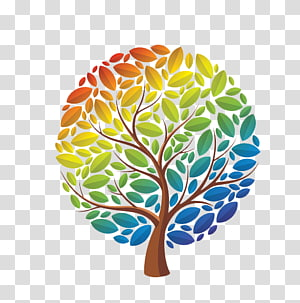 rainbow tree PNG