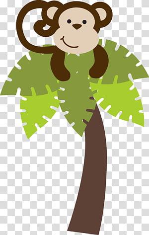 brown monkey illustration, Monkey , safari PNG clipart
