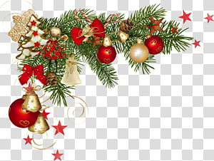 Christmas decoration Christmas ornament , frame border psd material PNG clipart