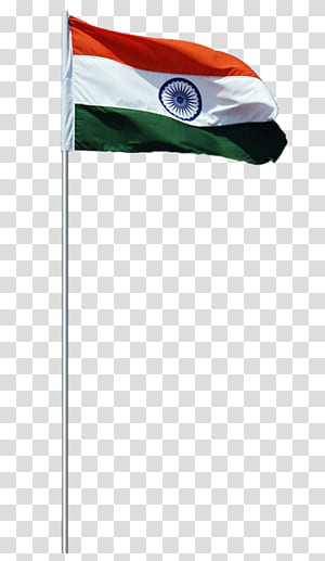 Flag of India , Independence Day, raised flag of India on a white pole PNG clipart