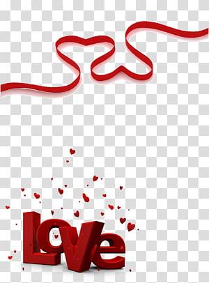 Love Romance Feeling Valentine\'s Day Friendship, Ribbon PNG