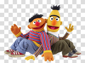 Sesame Street Ernie and Bert illustration, Sesame Street Bert and Ernie Sitting PNG