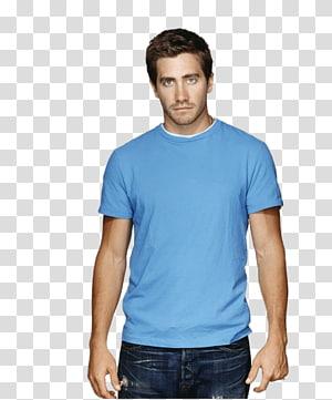 Jake Gyllenhaal, Jake Gyllenhaal Blue Tshirt PNG clipart