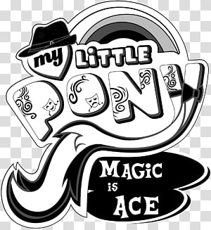 Pony Derpy Hooves Logo Pinkie Pie Black and white, My little pony PNG clipart