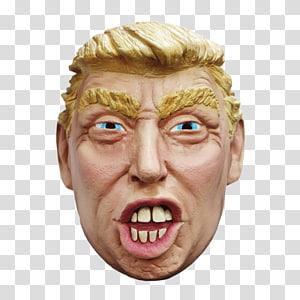 Donald Trump Latex mask Halloween costume, donald trump PNG