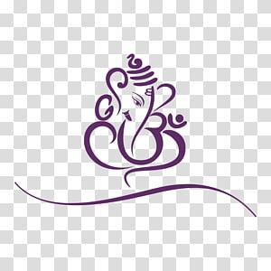 spiral purple logo, Ganesha Mahadeva Parvati Hinduism , ganesha PNG