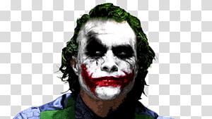 Heath Ledger The Joker artwork, Heath Ledger Joker Batman The Dark Knight Film, joker PNG clipart