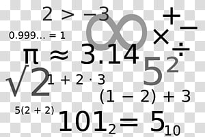 Mathematical notation Mathematics Symbol Number , Of Math Symbols PNG clipart