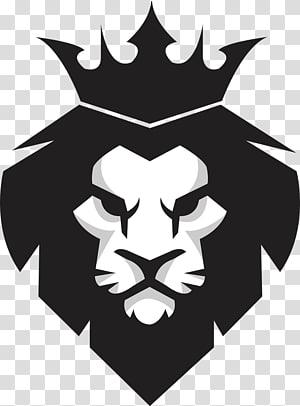 Lion Euclidean Pixabay, Black Lion King, black and white lion logo PNG