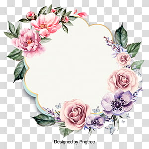 illustration Drawing graph, floral wreath PNG clipart