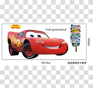 Lightning McQueen Sally Carrera Doc Hudson Wall decal Cars, lightening mcqueen PNG