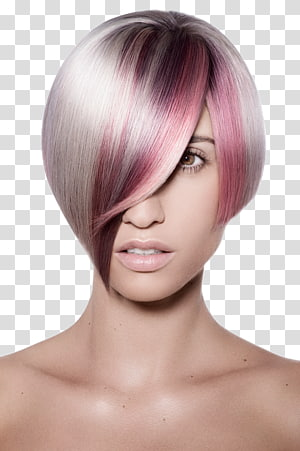 Hair coloring Asymmetric cut Hair Care Human hair color, hair PNG clipart