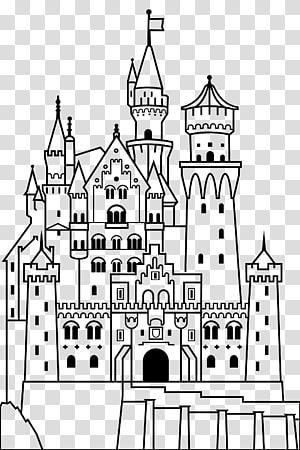 Neuschwanstein Castle Château Coloring book , Castle PNG clipart