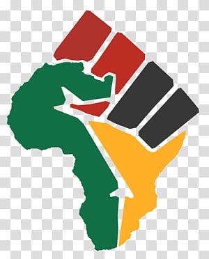 red, black, green, and yellow logo, Black Power Raised fist Black Panther Party African American, Africa PNG