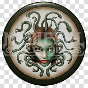 Medusa Perseus Ancient Greece Greek mythology Shield, beautifully shield PNG