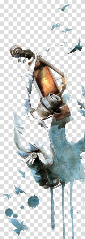Hero Time Is Gone Painting Art Printmaking Poster, Watercolor Guitar PNG