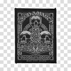 Amon Amarth Heavy metal Surtur Rising Embroidered patch Melodic death metal, Death Metal PNG clipart