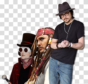 Willy Wonka Jack Sparrow Johnny Depp The Mad Hatter Charlie and the Chocolate Factory, johnny depp PNG