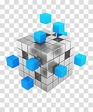 gray and blue cube pixel , Data warehouse Data mining Big data Online analytical processing, 3d PNG clipart