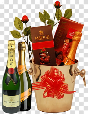 Food Gift Baskets Valentine\'s Day Birthday Christmas, Party Champagne PNG