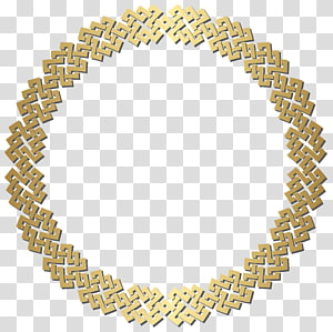 round gold frame illustration, frame , Golden Round Border Frame PNG clipart