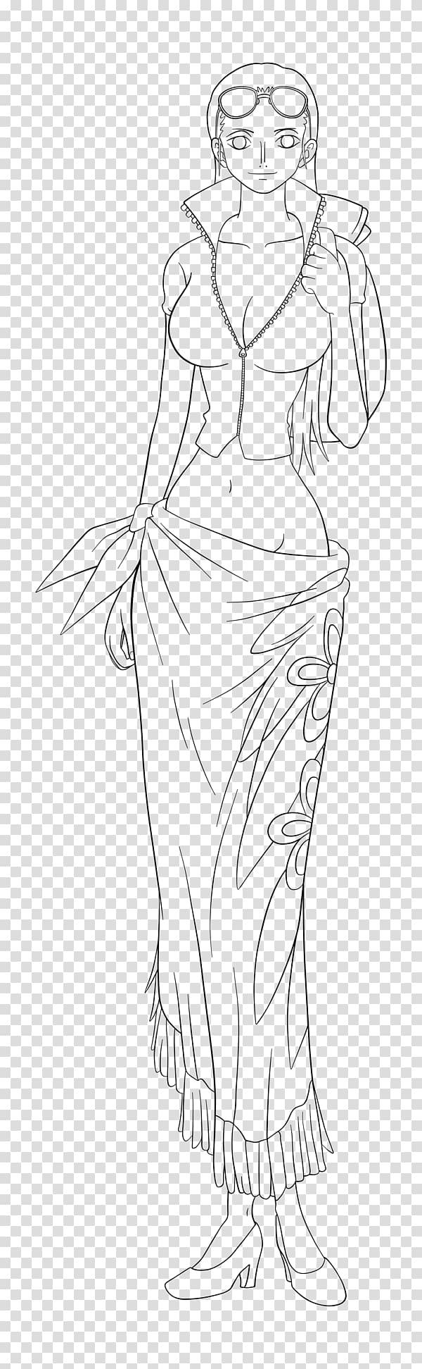 Figure drawing Line art Sketch, nico robin PNG