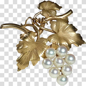 Cultured pearl Grape Gold-filled jewelry Brooch, grape PNG