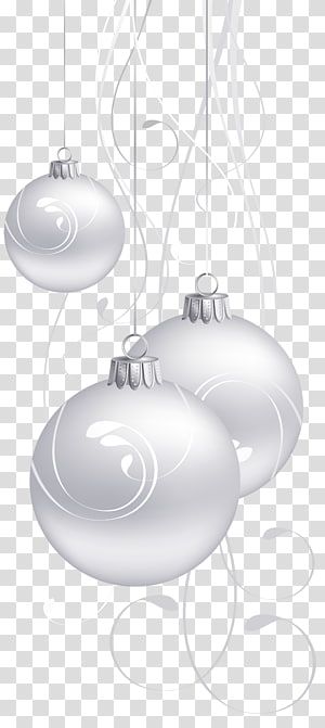 Black and white Purple, White Christmas Balls PNG clipart