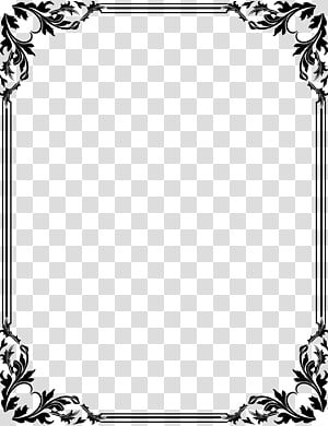 black floral boarder , Borders and Frames Frames , text design template PNG clipart
