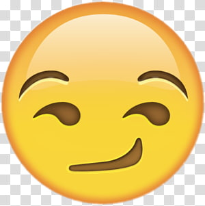 Emoji Smirk iPhone Sticker, Emoji PNG