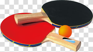 red and black ping pong rackets, Table tennis racket Game, Ping pong paddle PNG