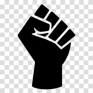 Raised fist Black Power Black Panther Party Symbol, symbol PNG