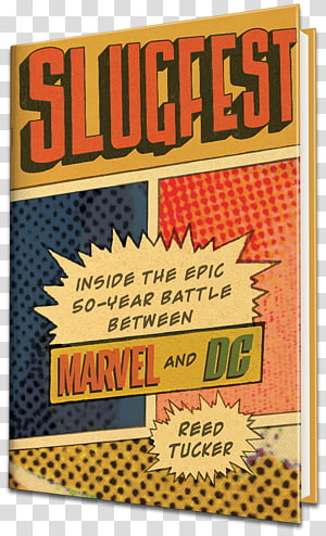 Slugfest: Inside the Epic, 50-Year Battle Between Marvel and DC Amazon.com Book Barnes & Noble Author, vintage book cover PNG clipart