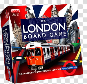 London Underground Ideal The London Board Game Totopoly, london PNG clipart