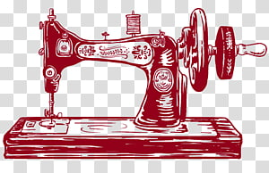 Sewing Machines Machine embroidery Textile, vintage illustration PNG clipart