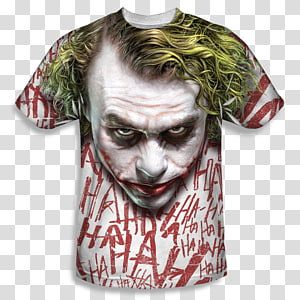 Heath Ledger Joker The Dark Knight T-shirt Batman, joker PNG clipart