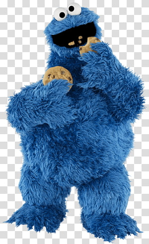 Cookie Monster from Sesame Street, Sesame Street Cookie Monster Eating PNG