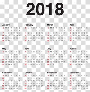 New Year Calendar Wish Party, 2018 Calendar , 2018 calender PNG