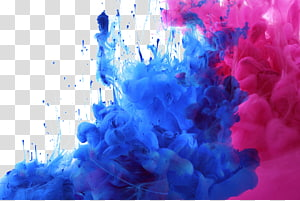blue and pink smoke bombs illustration, Watercolor painting Acrylic paint, Colored smoke PNG clipart