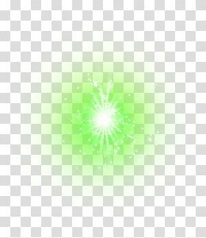 green star light effect element PNG