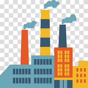 Factory Icon, creative icon design factory chimney, multicolored factory illustration PNG clipart